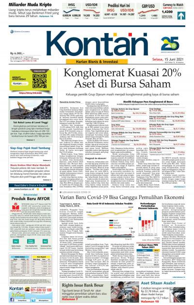 Kontan Harian - 15 Juni 2021