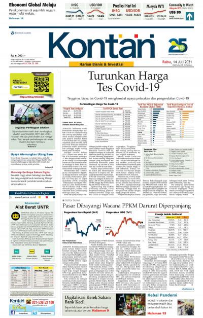 Kontan Harian - 14 Juli 2021