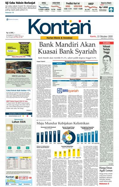Kontan Harian - 22 Oktober 2020
