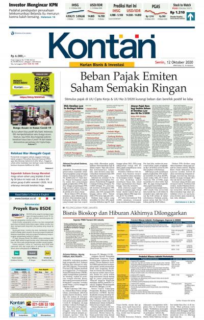 Kontan Harian - 12 Oktober 2020