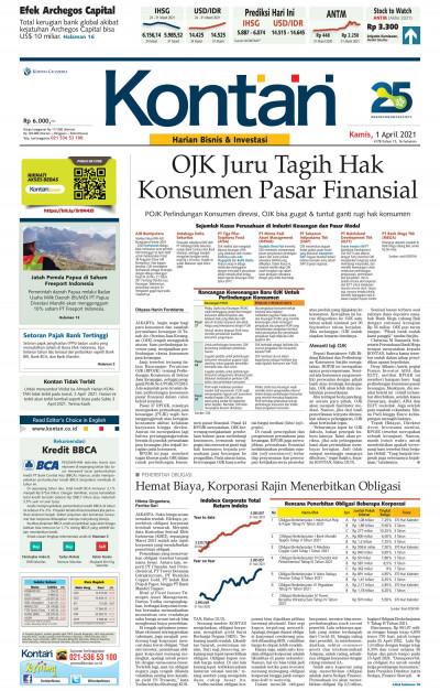 Kontan Harian - 01 April 2021