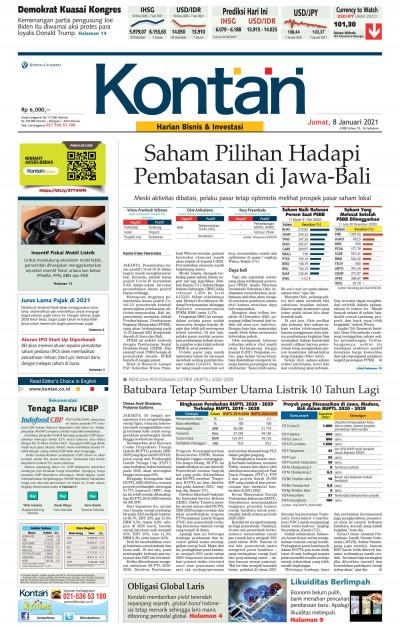 Kontan Harian - 08 Januari 2021