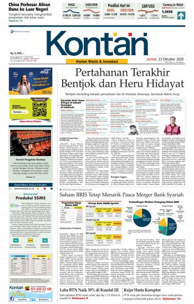 Kontan Harian - 23 Oktober 2020