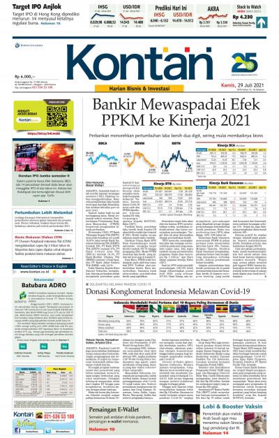 Kontan Harian - 29 Juli 2021