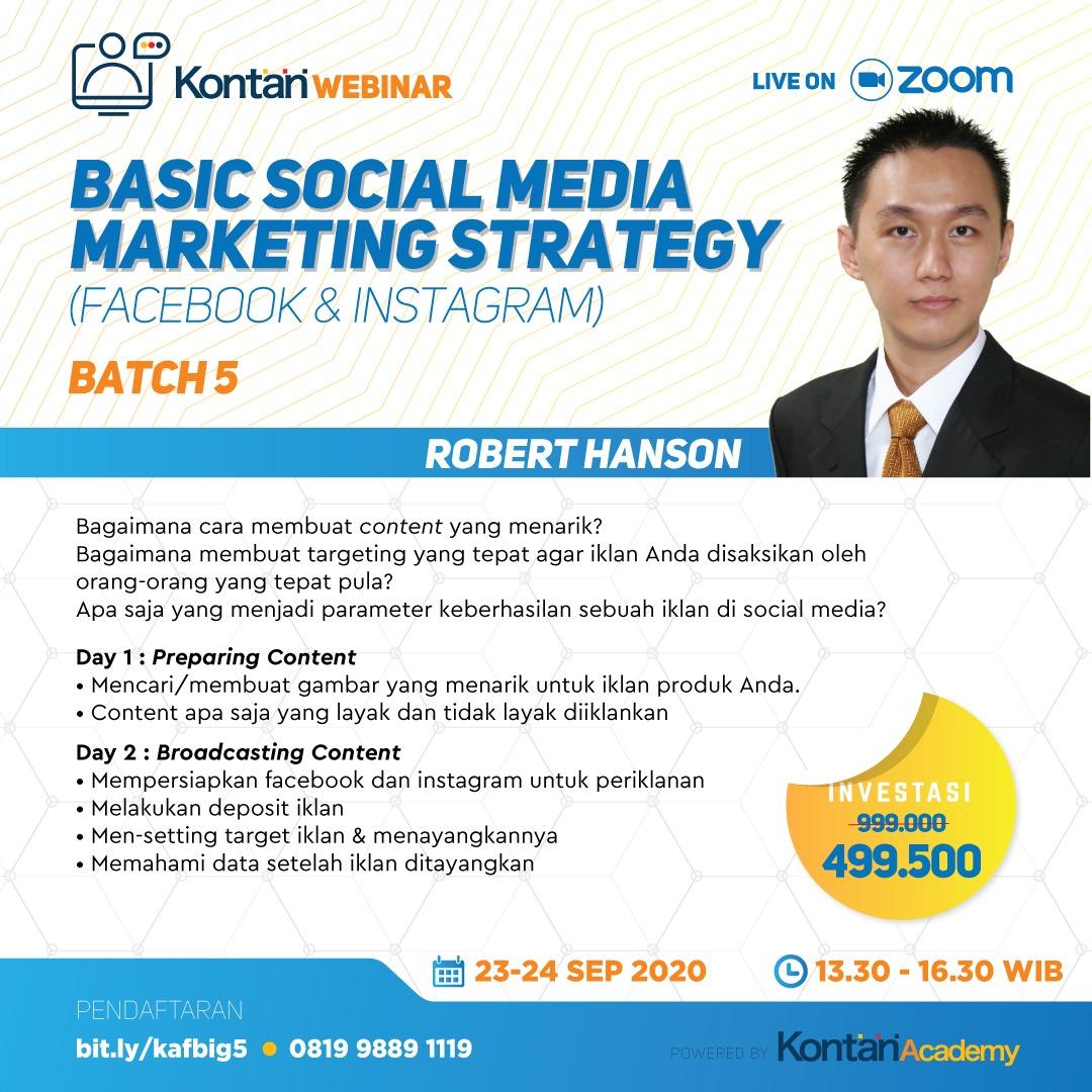 Basic Social Media Marketing Strategy (Facebook & Instagram) Batch 5