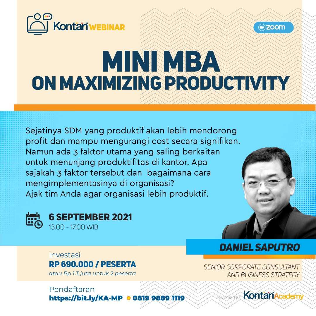 MiniMBA on Maximizing Productivity