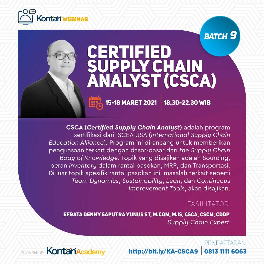 Certified Supply Chain Analyst (CSCA) Batch 9