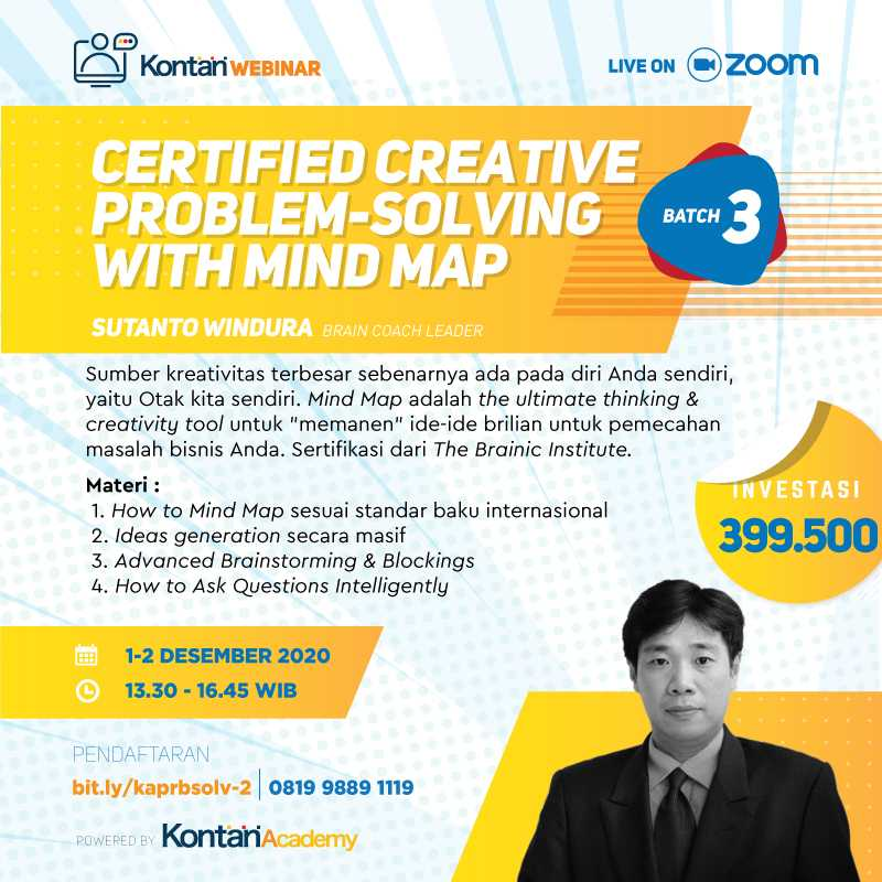 Certified Creative Problem-Solving with Mind Map (Batch 2)
