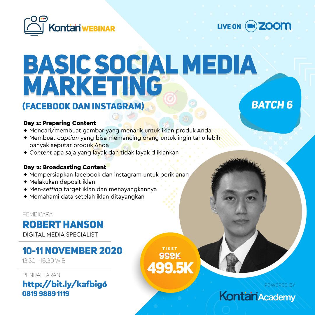 Basic Social Media Marketing Strategy (Facebook & Instagram) Batch 6
