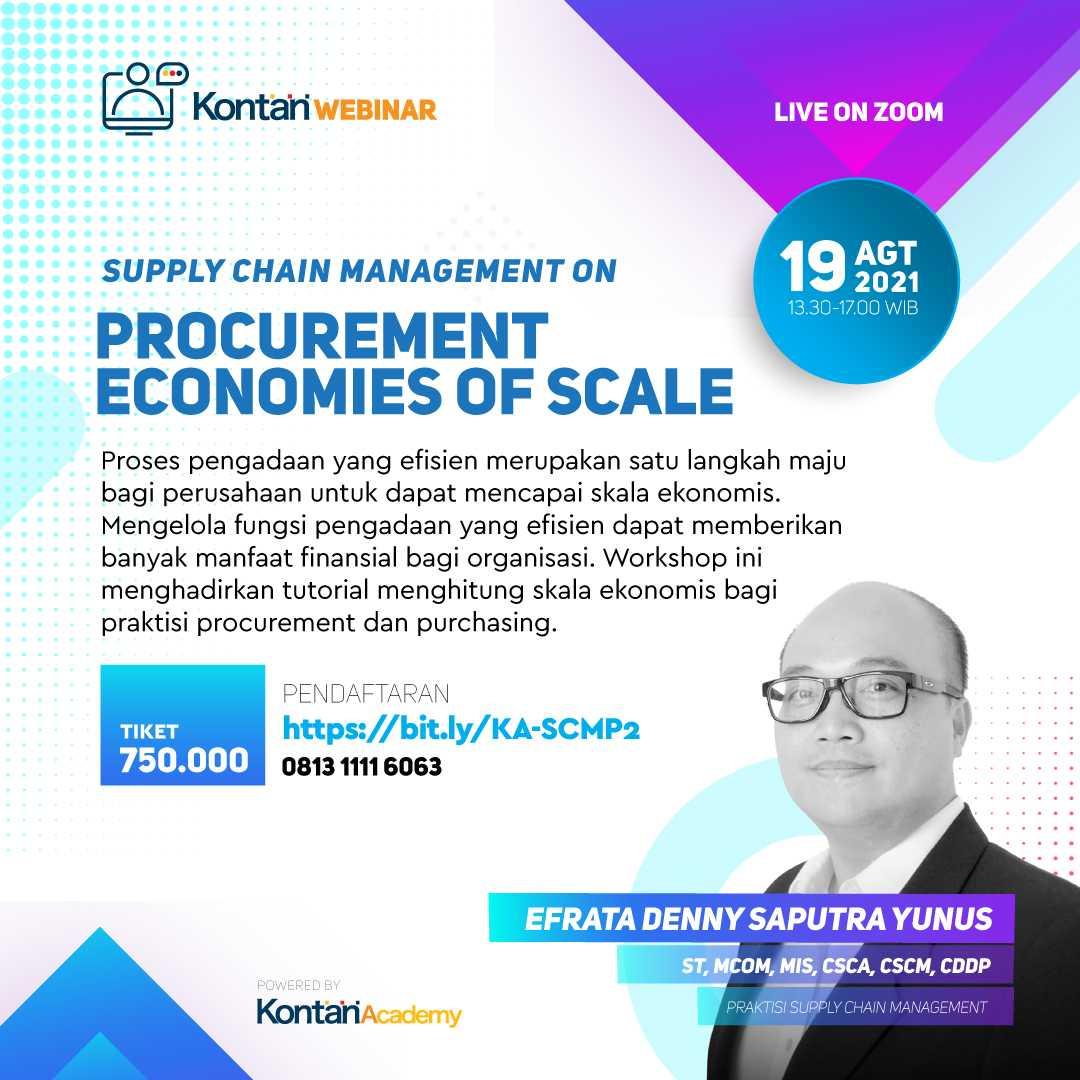 Supply Chain Management on Procurement Economies of Scale Batch 2