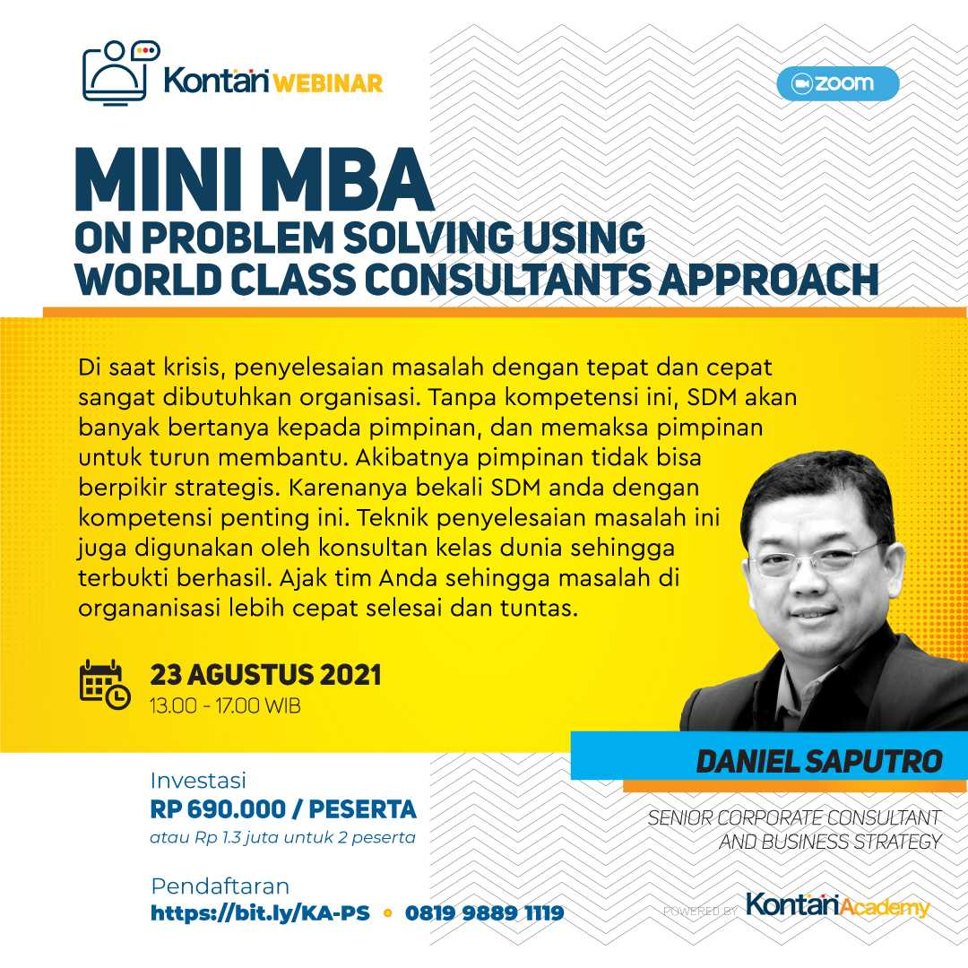 MiniMBA on  Problem Solving  using world class consultants approach