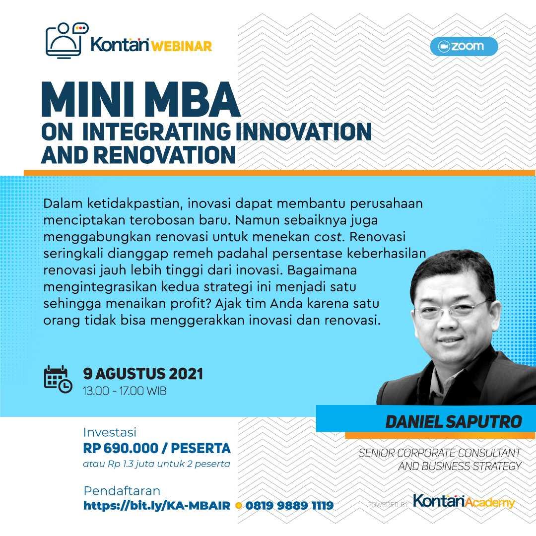 MiniMBA on Integrating Innovation and Renovation