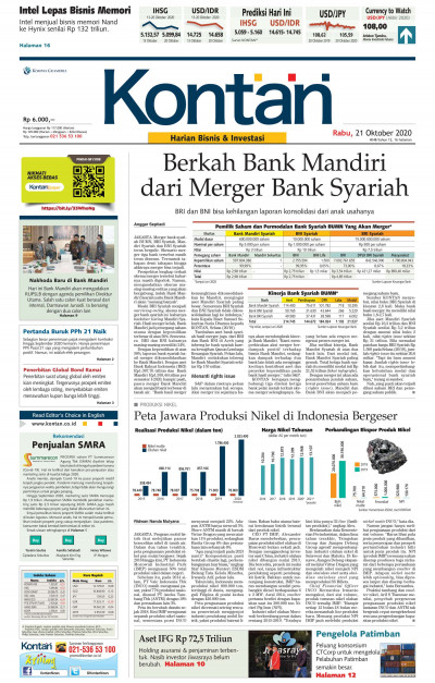 Kontan Harian - 21 Oktober 2020
