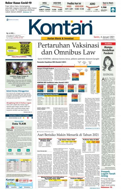 Kontan Harian - 04 Januari 2021