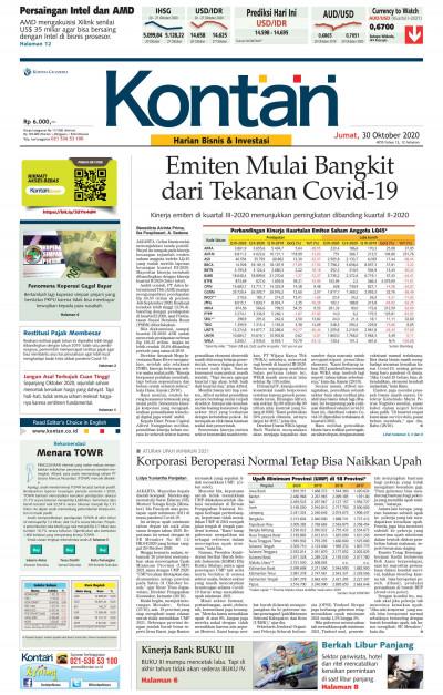 Kontan Harian - 30 Oktober 2020
